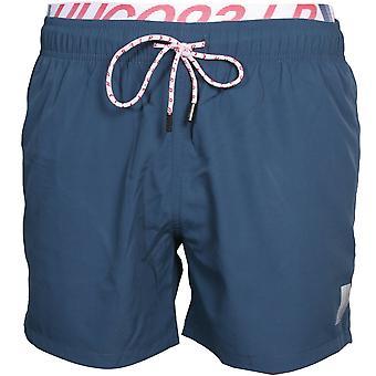 HUGO Chevron 93 Logo Swim Shorts, Dark Navy