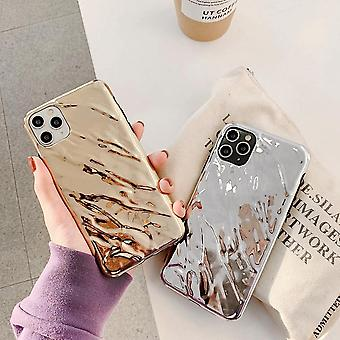 Unique Metal Mobile Case for iPhone11 Silver and Gold