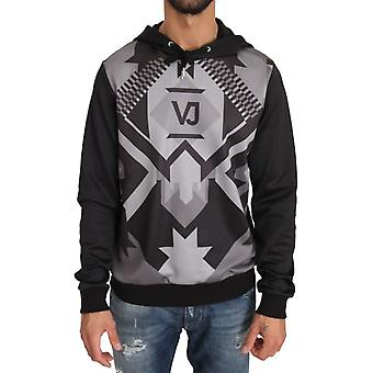Versace Jeans Hooded Black Gray Pullover
