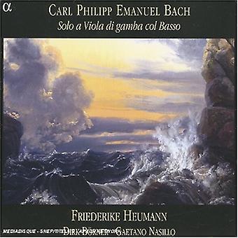 C.P.E. Bach-Carl Philipp Emanuel Bach: solo a viola di gamba Col Basso [CD] EUA importação