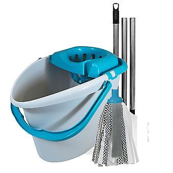 Charles Bentley 'Brights' Blue Mop & Bucket Set
