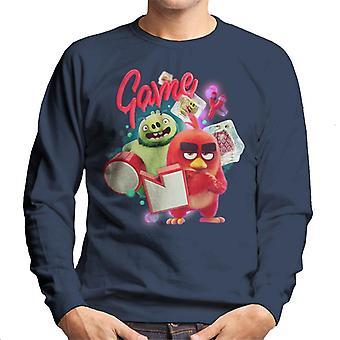 Vred fugle spil på mænd's Sweatshirt