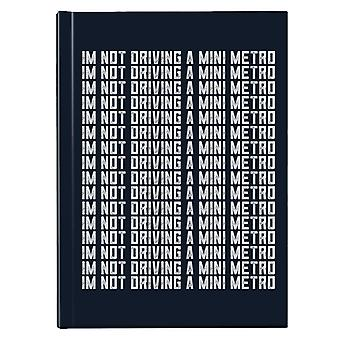 Alan Partridge Im No conduciendo un mini metro Hardback Journal