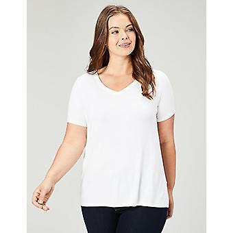 ブランド - 毎日の儀式の女性&アポス;sプラスサイズジャージー半袖VネックTシャツ、ホワイト、1X