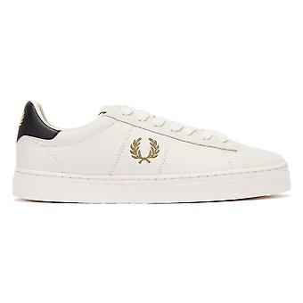 Fred Perry Spencer Leather Mens White / Gold Trainers