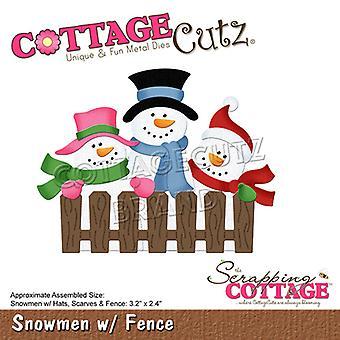 Skrotning Cottage Snögubbar med Staket