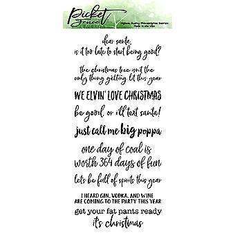 Picket Fence Studios Ongepaste Kerst Duidelijke Postzegels