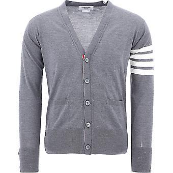 Thom Browne Mkc002a00014038 Men's Grey Wool Cardigan