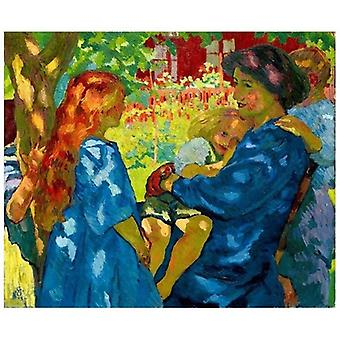 Print on canvas - Family Portrait Under The Elder - Giovanni Giacometti - Painting on Canvas, Wall Decoration