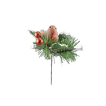 Davies Products Fabric Robin Pick Christmas Decoration