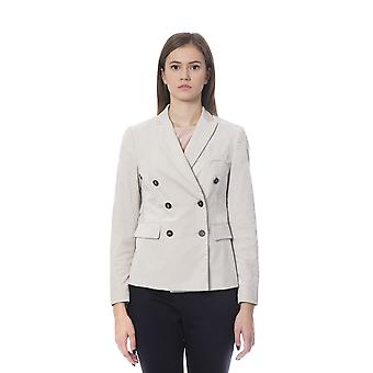 Peserico Double Breasted Beige Blazer