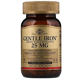 Solgar, Gentle Iron, 25 mg, 90 Grönsakskapslar