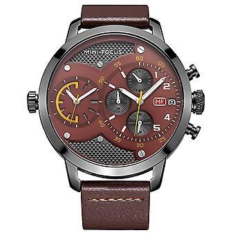 Dubbel uurwerk waterdicht men's quartz horloge