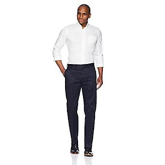 BUTTONED DOWN Men's Straight Fit Stretch Non-Iron Dress Chino Pant, Navy, 36W x 32L