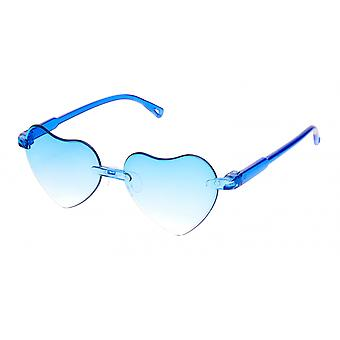 Sunglasses girl heart shaped girl cat. 3 blue (K-115)