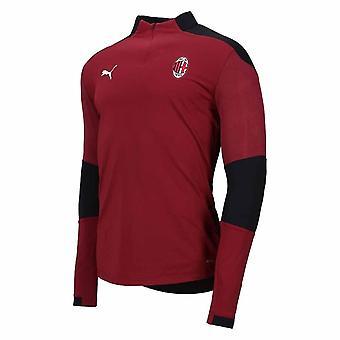 2020-2021 AC Milan 1/4 Zip Koulutus Top (Cordovan)