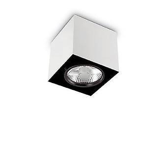 1 valo suuri neliö pinta asennettu downlight valkoinen, GU10