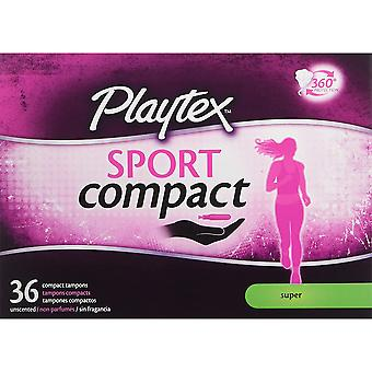 Playtex Sport Compact Athletic Tampons, Super Absorbency, Pack of 36 Tampons