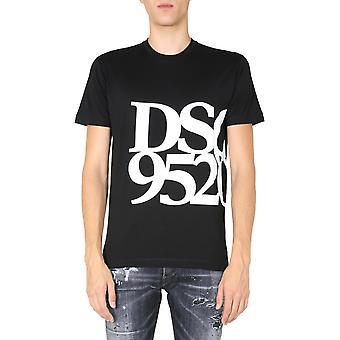 Dsquared2 S71gd0998s23009900 Men's Svart Bomull T-shirt