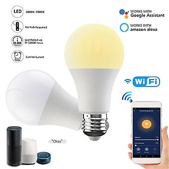 E27/b22 Smart Wifi Bec Dimming Bec 15w Cold & cald Suport Alexa Google