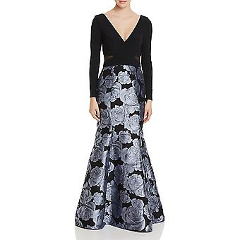 Aqua | Brocade formale Abendkleid