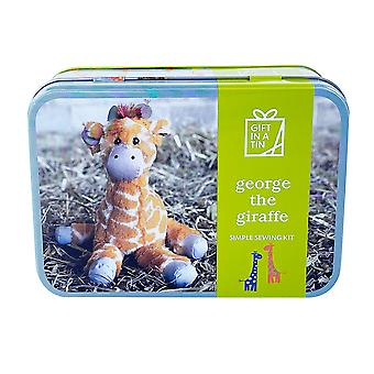 George The Giraffe Simple Sewing Kit, Suitable For Children - Luxury Gift Item
