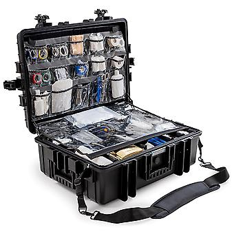 Caja de emergencia B&W Outdoor Case Tipo 6500 con clasificación variable, negro