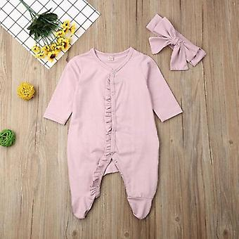 Pudcoco Brand New Style Newborn Baby Girl Boy Floral Footies Jumpsuit