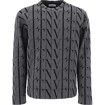Valentino Uv0mf04s6wgg93 Männer's grau Baumwolle Sweatshirt