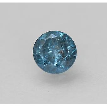 Cert 0.60 Karat Fancy Vivid Blue Runde brillante verbesserte natürliche Diamant 5,15 mm