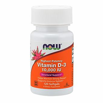 Now Foods Vitamin D3, 10,000 IU, 120 Softgels