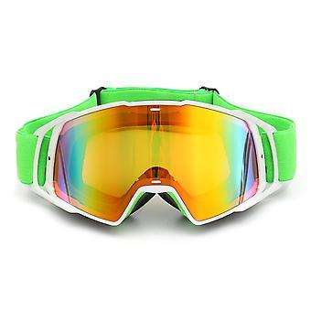 Uv Protection Anti Fog Green Frame Motorcycle Racing Ski Goggles