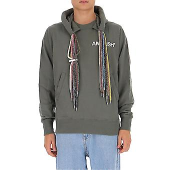 Ambush Bmbb003f20fle0014501 Men's Green Cotton Sweatshirt