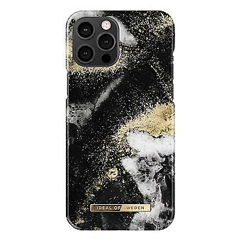 iDeal Of Sweden iPhone 12 Pro Max Shell - Black Galaxy Marble