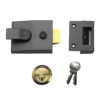 Yale Locks P89 Impasse Nightlatch 60mm Backset Brasslux Finish Visi YALP89BLX