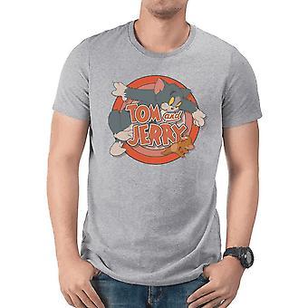 Tom et Jerry adultes unisexe rétro logo T-Shirt
