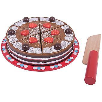 Bigjigs Toys Wooden Chocolate Cake
