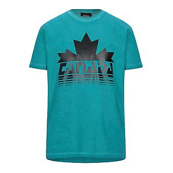 Dsquared2 Canada Maple Leaf Logo Cool Fit camiseta verde