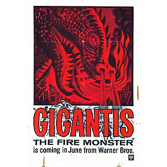 Impresión de Gigantis Movie Poster (27 x 40)