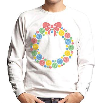 The Little Prince Christmas Festive Wreath Men's Sweatshirt