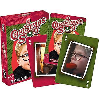 Una historia de navidad - fotos jugando a las cartas