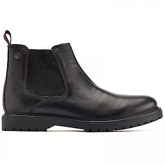 Base London Anvil Mens Leather Chelsea Boots Black