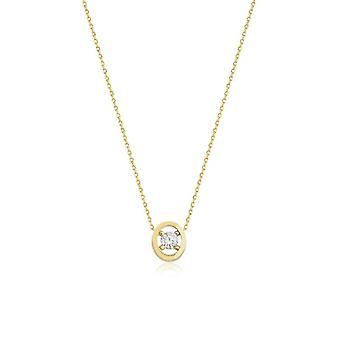 ovale gull halskjede
