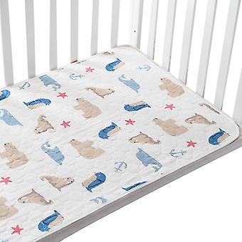Baby Changing Pads Täcker återanvändbara blöjor madrass för nyfödda vattentät