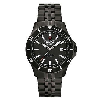Reloj suizo de los hombres militares alpinos cuarzo analógico 7022.1177SAM acero inoxidable