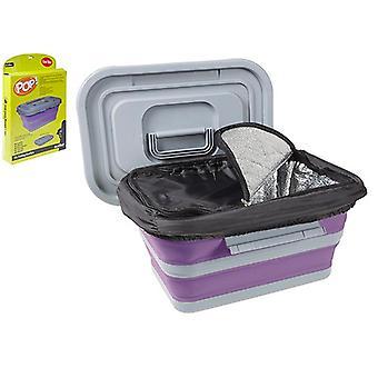 Summit Pop! 18L taitettava kokoontaitettava viileä laatikko camping ruoka kontti jäähdytin - violetti / harmaa