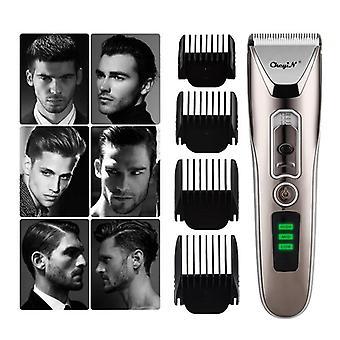 Homens profissionais e cortadores de cabelo de apos;led display trimmer de cabelo