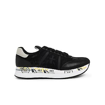 Premiata Conny4821 Dames's Black Leather Sneakers