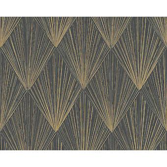 Gold Metallic Elegant Print schwarz Wallpaper als Kreation