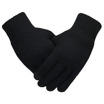 Winter Men Knitted Gloves, Touch Screen  Male Mitten, Thicken Warm Wool